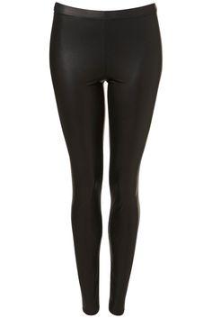 Wet Look Leggings - Leggings - Clothing - Topshop USA