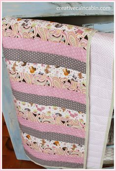 Baby Quilt using Quilt as You Go Method - Creative Cain Cabin