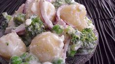 Gnocchi Salad with Garlic Feta Dressing