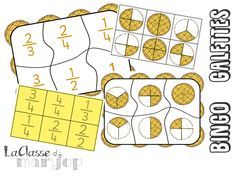 Bingo Galettes - Jeu sur les fractions - La Classe de Marybop Fraction Bingo, Math Blocks, Kings Day, Math Tutor, Cycle 3, Math Fractions, School Games, Math Games, Math Centers