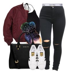 """""""Sylvie Finesse"""" by trillest-fashion ❤ liked on Polyvore featuring River Island, Calvin Klein Underwear, MICHAEL Michael Kors and adidas Originals"""