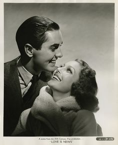 7000-0925 | Loretta Young and Tyrone Power portraits from Lo… | Flickr