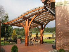 Projekty,  Ogród zaprojektowane przez EcoCurves - Bespoke Glulam Timber Arches