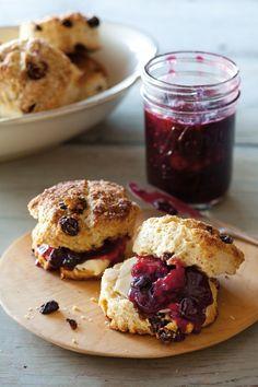 Scones With Raisins & Lemon Zest Recipe (Williams-Sonoma Blog), dough made with whole milk or heavy cream
