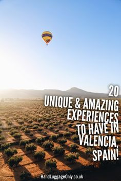 20 Unique And Amazing Experiences To Have In Valencia, Spain - Hand Luggage Only - Travel, Food & Home Blog