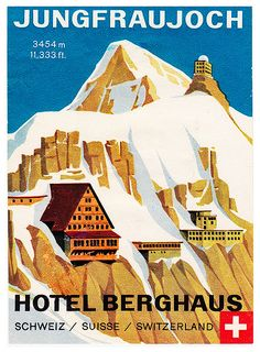 ✩ Check out this list of creative present ideas for cool roadtrips Vintage Ski Posters, Art Deco Posters, Vintage Travel Decor, Fürstentum Liechtenstein, Swiss Travel, Swiss Ski, Jungfraujoch, Tourism Poster, Vintage Hotels