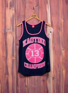 Kaotiko BCN – Moda mujer - CAMISETA BASKET CHAMPIONS MARINO