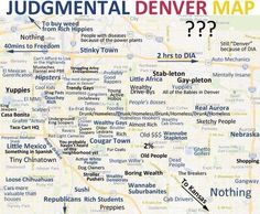 Judgmental #Denver Neighborhood Map