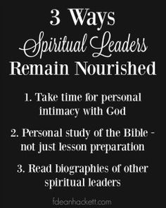 Here are 3 ways spiritual leaders can keep their spirits nourished.