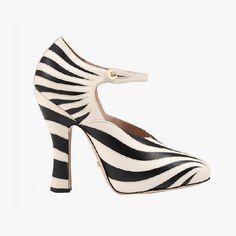 Gucci Zebra leather pumps, $990, gucci.com