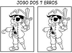 ATIVIDADES PARA EDUCADORES: Jogo dos 7 erros - Marchinha PIRATA DA PERNA DE PA...