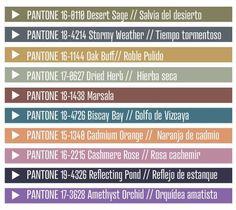 Colores Tendencia para Otoño Invierno 2015-2016