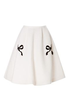 Shop Lilith Bow-Embellished High-Waisted Skirt by Vivetta Now Available on Moda Operandi
