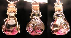 Magic Vial - I can wire wrap accent or use metallic sculpey to add accents or leave plain according to buyer preference & price accordingly. I know there's hundreds of these on etsy, but I haven't seen any really for what I have in mind... (Inspiration Only, No Pattern or Instruction)