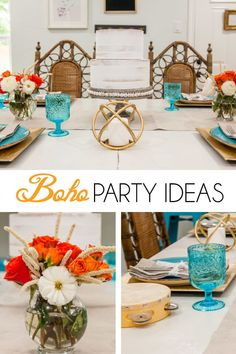 How to Throw the Perfect Surprise Party - Crowning Details Bohemian Party Decorations, Bohemian Birthday Party, Boho Baby Shower, Bridal Shower, Baby Shower Parties, Baby Showers, Paris Birthday, Its My Bday, Bohemian Gypsy