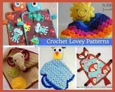 Crochet Lovey Patterns: 14 Crochet Blanket Patterns for Babies   These crochet afghan patterns are just about the cutest things ever.