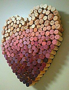 wine heart cork ombre