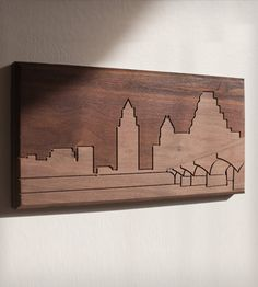 Austin Skyline Wood Art | Gifts Local Pride | Dave Marcoullier