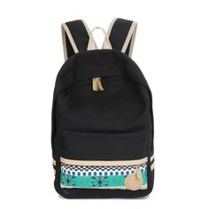 Women Canvas Shoulder School Bag Book bag Backpack Travel Rucksack Backpacks Best Gift