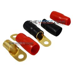 4 AWG Gold Ring Terminals Raptor R414RT MID SERIES