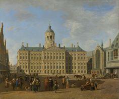 Het stadhuis op de Dam te Amsterdam., Gerrit Adriaensz. Berckheyde, 1693.Roofkunst.Eigenaar Levie in Sobibor vergast.