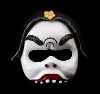 Ethnic Balinese Character Half-Mask Nyoman custom designed by Jonathan Becker at theater-masks.com