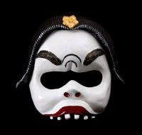 Ethnic Balinese Character Half-Mask Nyoman custom designed by Jonathan Becker at theater-masks.com