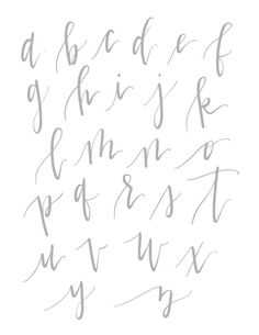 N/A Simple Calligraphy Alphabet, Pretty Fonts Alphabet, Lettering Styles Alphabet, Calligraphy Fonts Alphabet, Pretty Letters, Handwriting Alphabet, Hand Lettering Fonts, Doodle Lettering, Brush Lettering