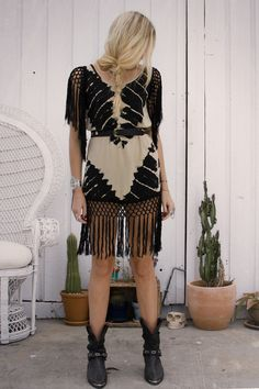 Lolita Fringe Dress - Storm | Spell & the Gypsy Collective #tie_dye