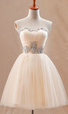 Peach tulle dress