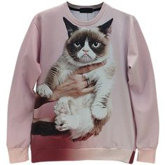 galaxy sweatshirt on sale at reasonable prices, buy [Amy] New women/men novelty GRUMPY CAT print Hoodies Pulloversanimal blouse hip-hop clothes Galaxy sweatshirts from mobile site on Aliexpress Now! Galaxy Sweatshirt, Cat Sweatshirt, Moda Animal Print, Mode 3d, Hip Hop, Panda, Animal Print Fashion, Cat Dog, Funny Prints
