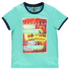 Tee-shirt en slub uni avec print fantaisie   Main