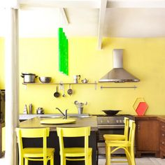 Une cuisine jaune