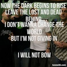 Lyric Art of I Will Not Bow by Breaking Benjamin