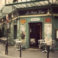 Beautiful outdoor cafe with gorgeous tones