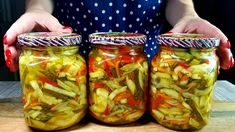 Salty Foods, Canning Recipes, Fresh Rolls, Pickles, Cucumber, Mason Jars, Ethnic Recipes, Youtube, Canning
