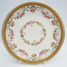Charles Ahrenfeldt Limoges for Goode Co Garlands Floral Swag Plate