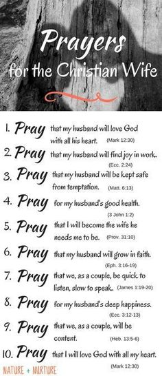 Prayers for the Christians Wives.