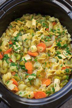 Chicken Noodle Soup {Slow Cooker} Recipe | Little Spice Jar