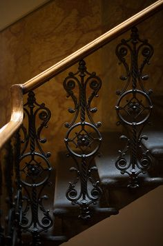 Raindrops and Roses Balustrades, Banisters, Railing Design, Staircase Design, Iron Stair Railing, Metal Railings, Staircase Railings, Balcony Railing, Escalier Design