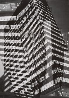 Skyscraper at Night, Double Exposure, by André Kertész