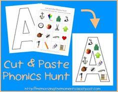 Memorizing the Moments: Cut & Paste Phonics Hunt