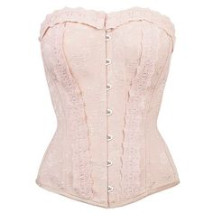 Pinky Beige Vintage Straight Line Overbust With Lace Channels Burlesque Corset, Overbust Corset, Lace Corset, Corset Outfit, Vintage Inspired Fashion, Bridesmaid Outfit, Vintage Fur, Vintage Lingerie, Vintage Handbags