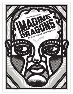 Imagine Dragons Poster by Tad Carpenter