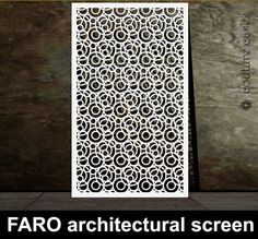 FARO laser cut metal screens and architectural panels for modern homes and commercial interiors.