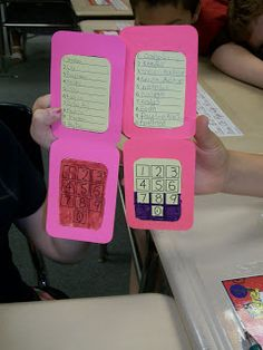 "This is a fun idea from Mrs. Lewis.  She uses these cell phones to pair her students up with a partner. She calls out a ""Speed Dial"" number, The student who is listed by the name is their partner."