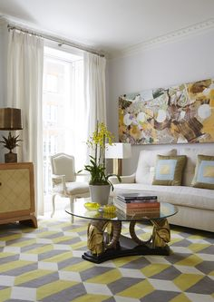 Eclectic Living Room in London, GB by Jan Showers & Associates