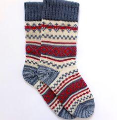 Knit Wool socks with patterns Women and Men wool socks by Junman