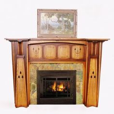 Arts and Crafts Mantels | Craftsman Fireplace Mantel Designs by ...