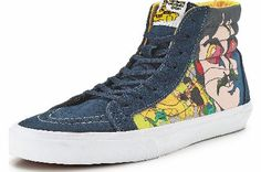 Vans SK8-HI Reissue Beatles Vans Sk8-Hi Beatles Reissue Plimsolls A revolution on your feet the Sk8-Hi reissue Beatles plimsolls by Vans are a must for fab four fans with an eye for style With a psychedelic print from Yellow Sub http://www.comparestoreprices.co.uk//vans-sk8-hi-reissue-beatles.asp